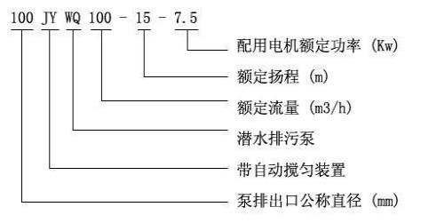 JYWQ自动搅匀排污泵型号意义